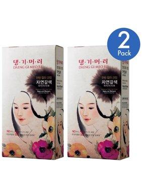 Daeng Gi Meo Ri Medicinal Herb Hair Color Dye (Natural Brown) - 2 Pack
