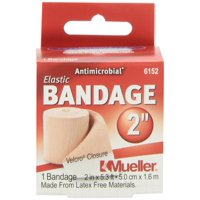 """Mueller Elastic Bandage with Velcro Closure, Beige, 2"""" x 5.3ft Unstretched"""