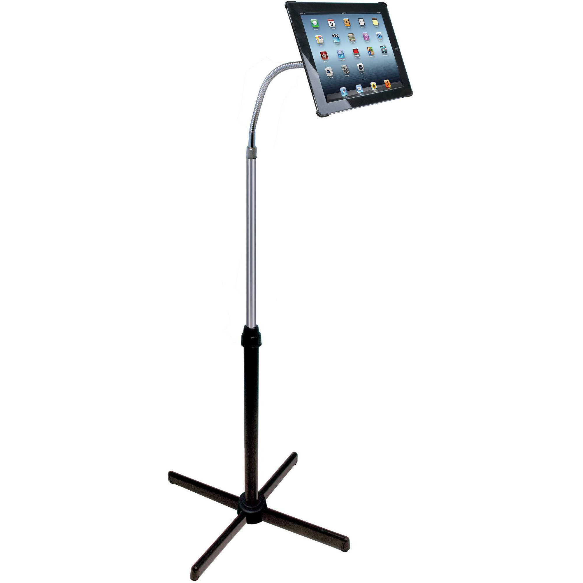 cta digital apple ipad 234 gooseneck floor stand image - Ipad Floor Stand