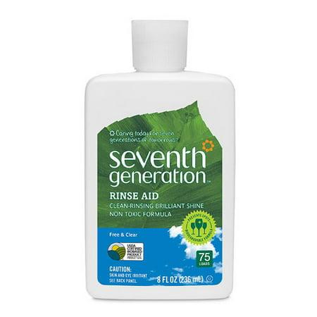 Seventh Generation Free & Clear Dishwasher Rinse Aid Fragrance Free 8 (Clear Rinse)