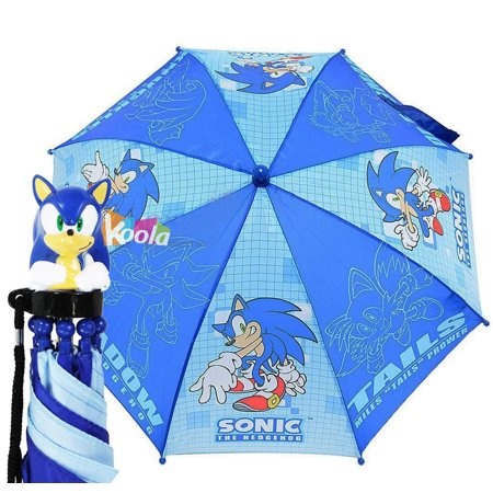 - Sonic The Hodgehog Kids Umbrella with 3D Figure Handle (Tail, Knuckles, Shadow)