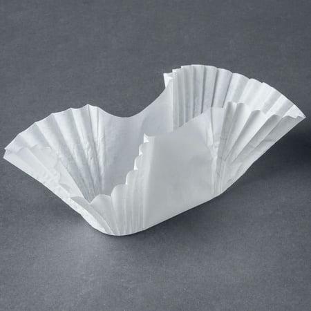 Tabletop King 610750 White Paper Fluted Burger Cup   Taco Holder   Bagel Blanket   250 Pack