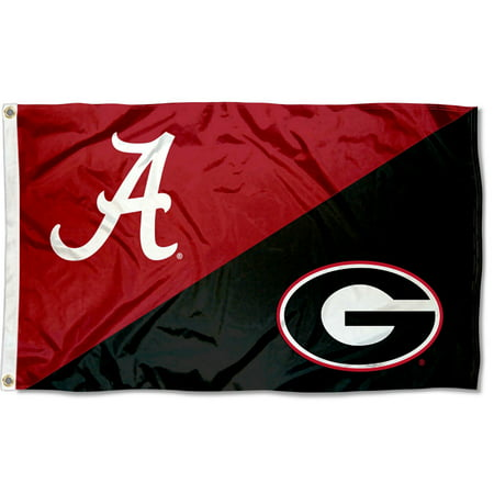 Rivalry Alabama vs Georgia House Divided 3x5 Flag
