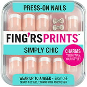 Fing'rs Prints Simply Chic Press-On Nails, Class Act, 26 count