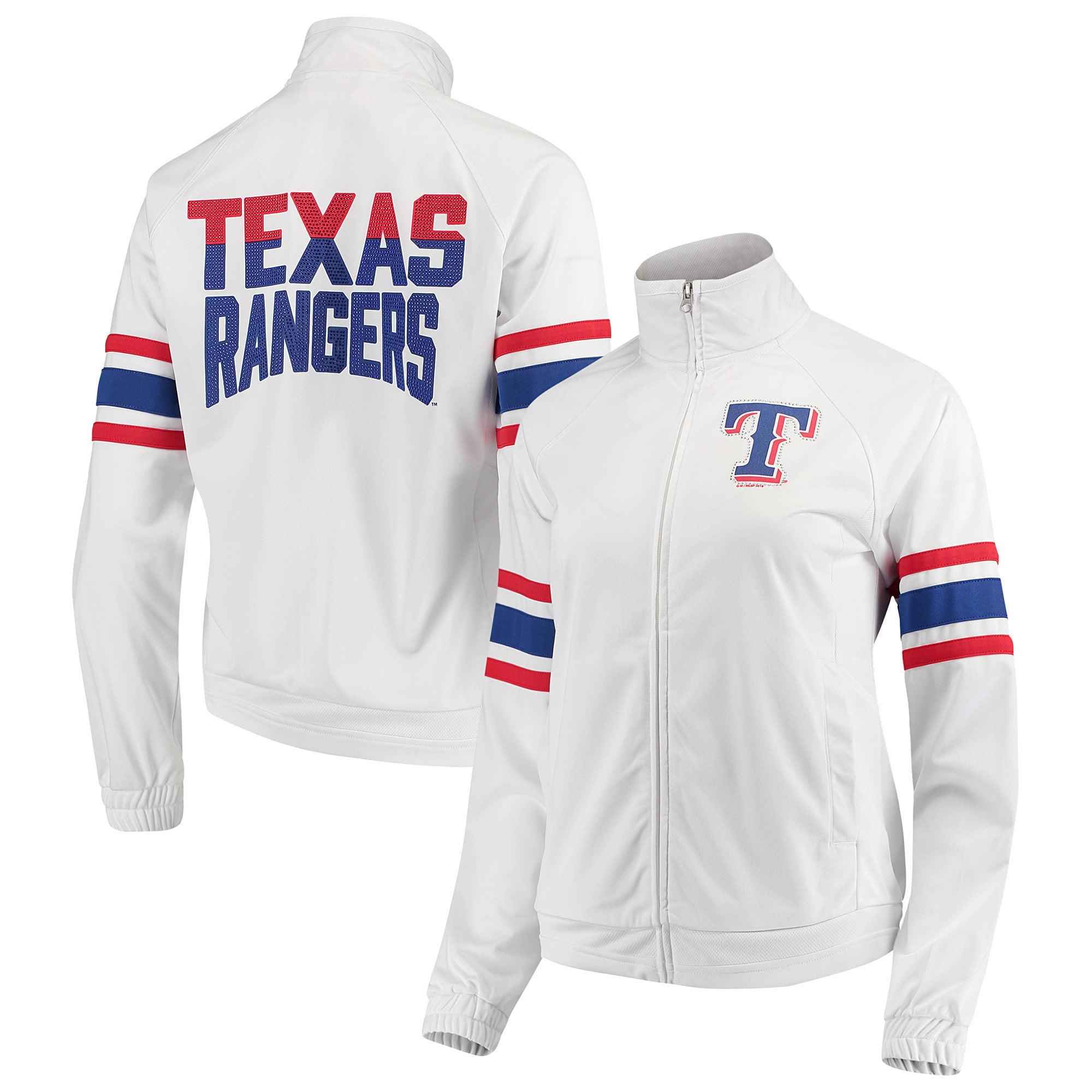 Texas Rangers G-III 4Her by Carl Banks Women's Game Score Full-Zip Track Jacket - White