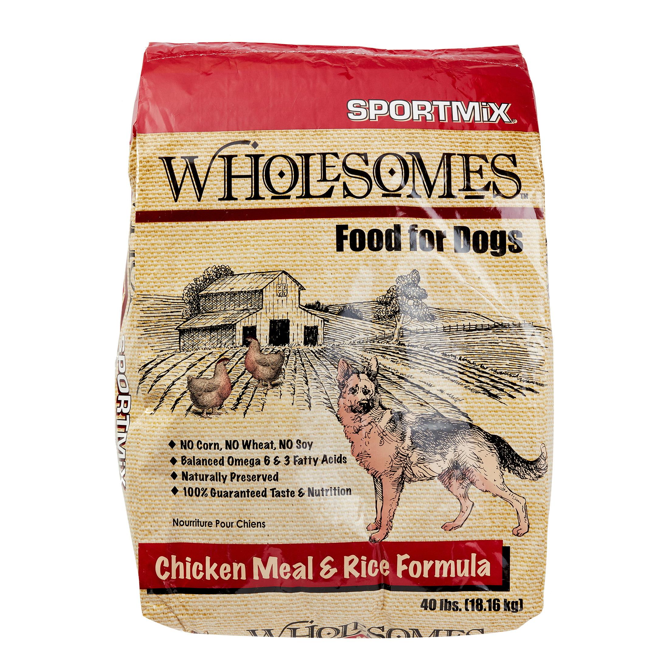Sportmix Wholesomes Chicken Meal Rice Formula Dry Dog Food 40 Lb Walmart Com Walmart Com