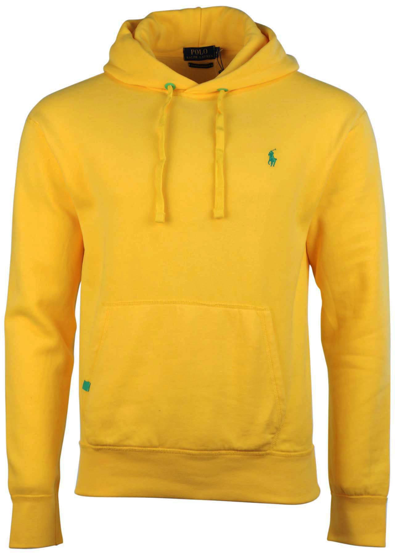 Polo Ralph Lauren Men\u0027s Performance Pullover Pony Hoodie-Racing Yellow -  Walmart.com