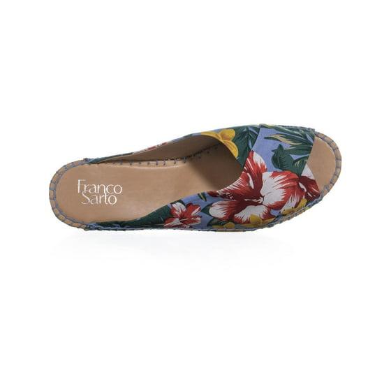 42fc56930ad Womens Franco Sarto Polina Espadrille Wedge Sandals, Light Blue, 9.5 W US