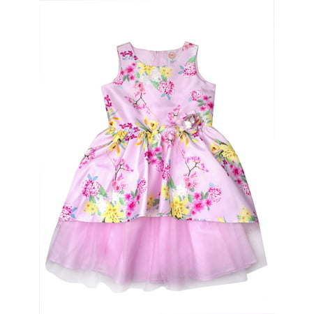 Tulle Easter Dress (Floral Shantung and Tulle Easter Dress (Little Girls, Big Girls & Big Girls)