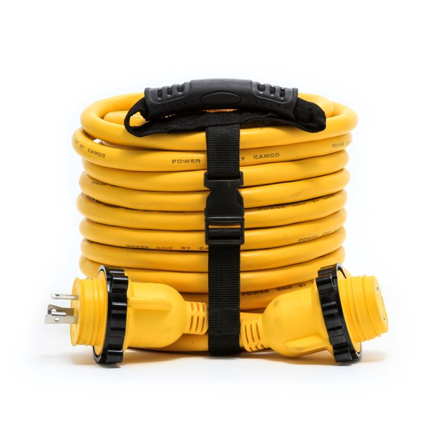 Camco 55613 Rv 50 30 Amp Male And 30 Amp Female Powergrip Marine Locking Extension Cord Walmart Com Walmart Com