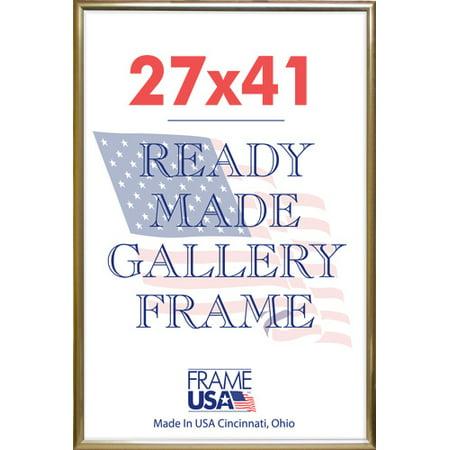 27x41 GOLD DELUXE       POSTER (Gold Versace Frames For Men)