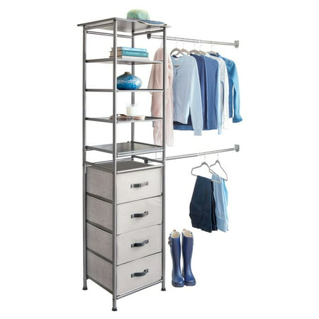 iDesign Modular Closet Storage System, Graphite