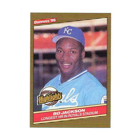 1986 Donruss Highlights 43 Bo Jackson Royals Home Run Rookie Card