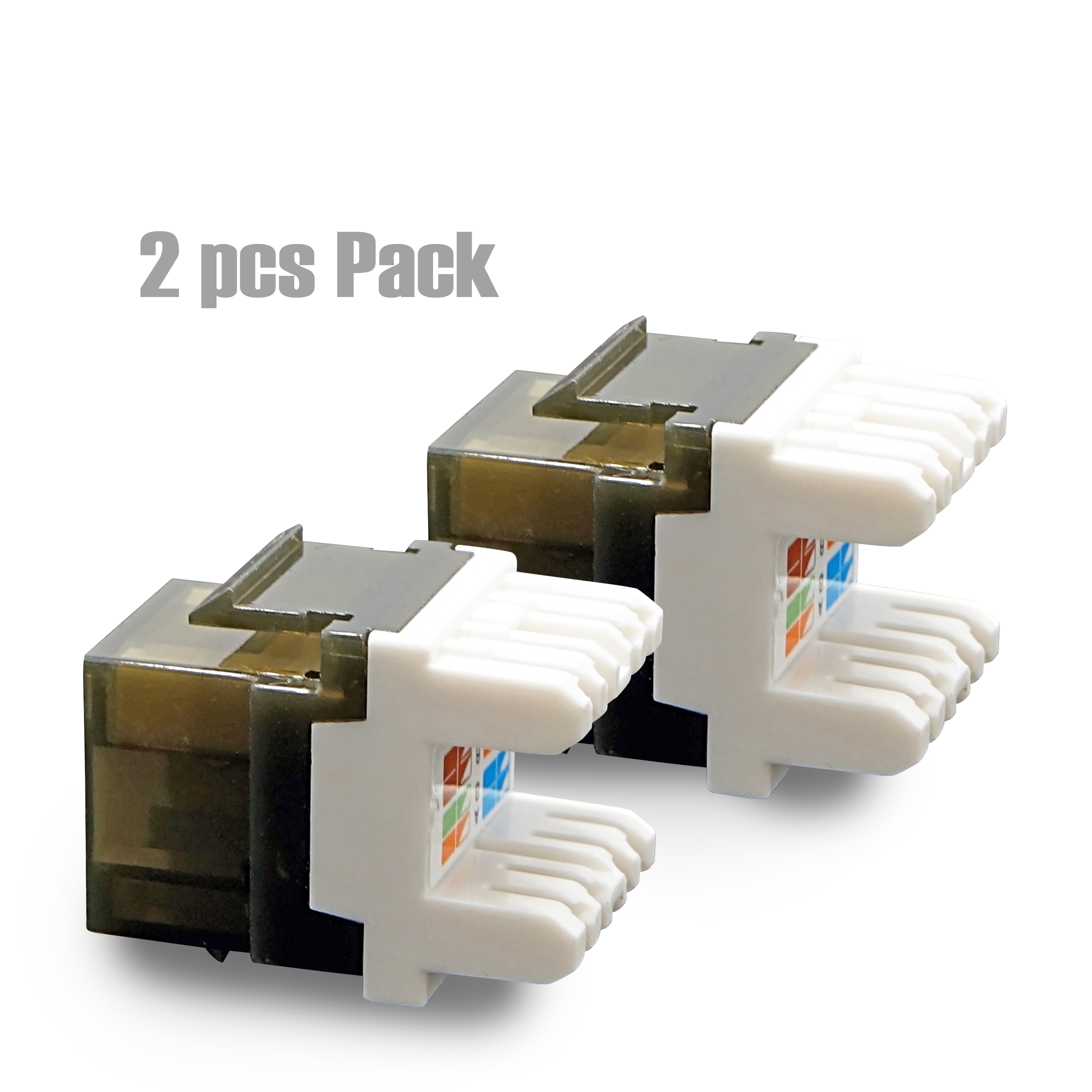 CyberTech UTP Cat.6A/Cat.6/Cat.5e Keystone Jack with LED (2 Pack)