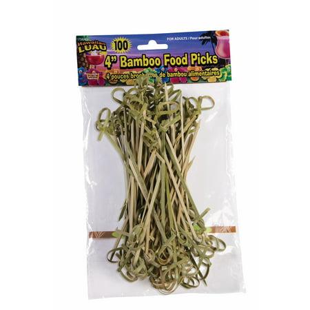 Forum Hawaiian Luau Party Bamboo Food 100pc 4