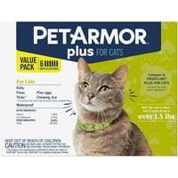 PetArmor Plus Flea & Tick Prevention for Cats (Over 1.5 lbs)