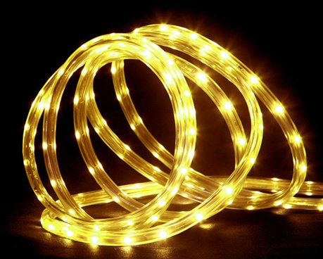 Northlight 18 ft yellow led indoor outdoor christmas rope lights aloadofball