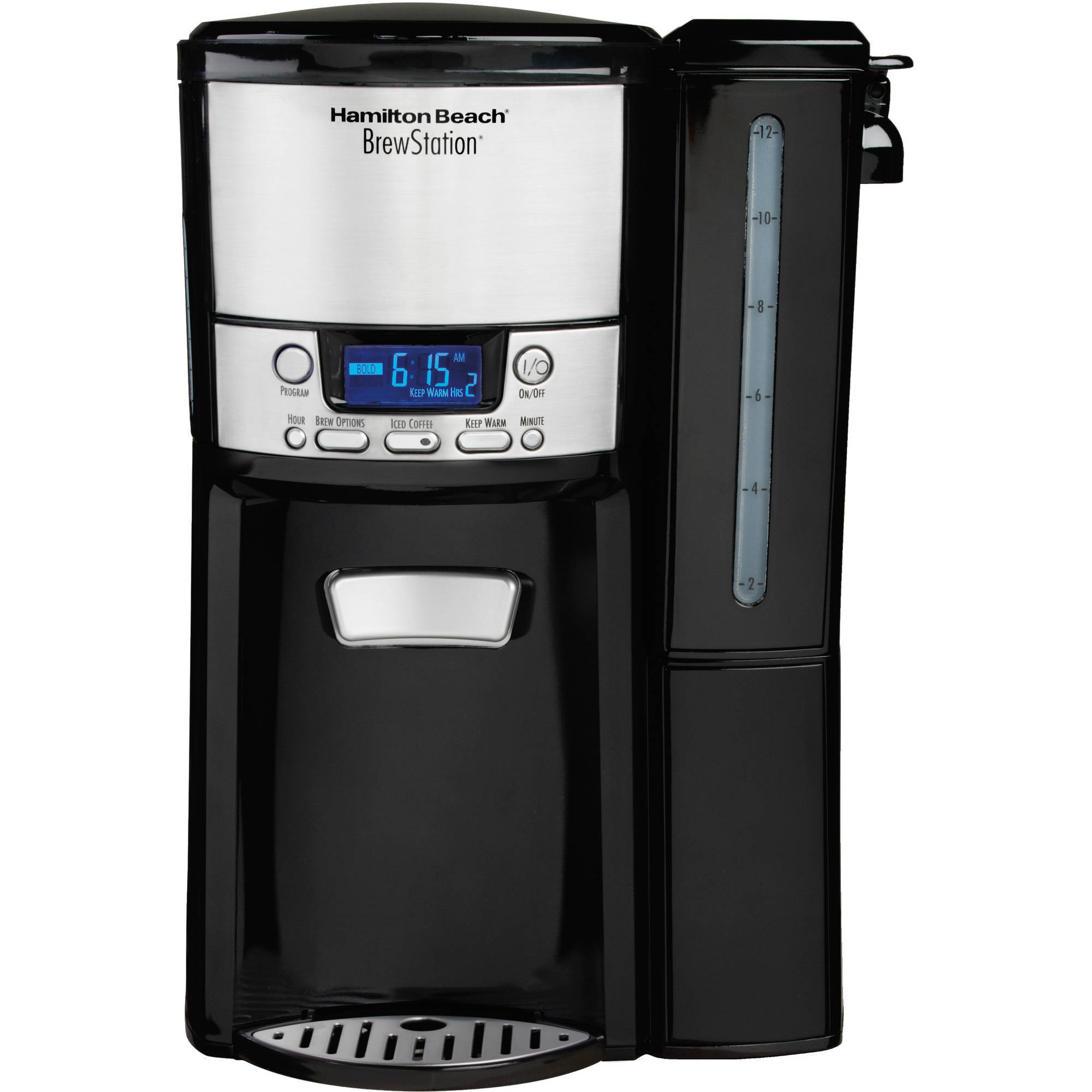 Hamilton Beach Brewstation 12 Cup Dispensing Coffeemaker With Removable Water Reservoir Model 47900
