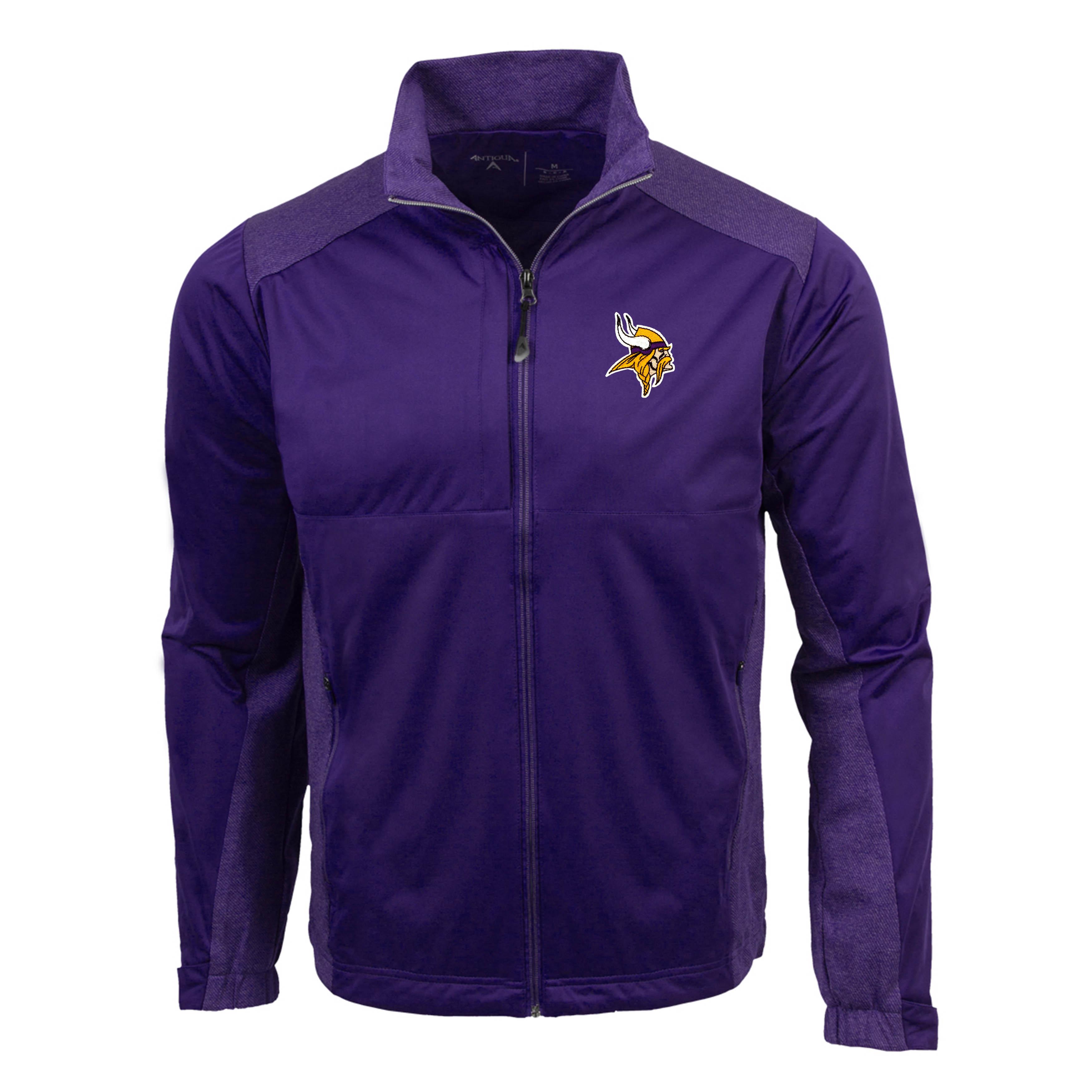 Minnesota Vikings Antigua Revolve Full-Zip Jacket - Purple