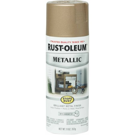 Rust-Oleum Stops Rust Vintage Metallic Spray Paint, Rose Gold (Uv Reactive Spray Paint)