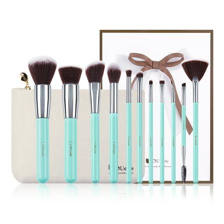 makeup brushes kit set ducare 11pcs brush with mint green