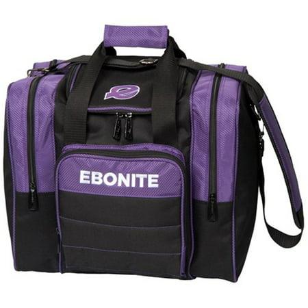 Impact Bags - Ebonite Impact Plus Single Bowling Bag- Purple/Black