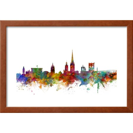 norwich england skyline framed print wall art by michael tompsett