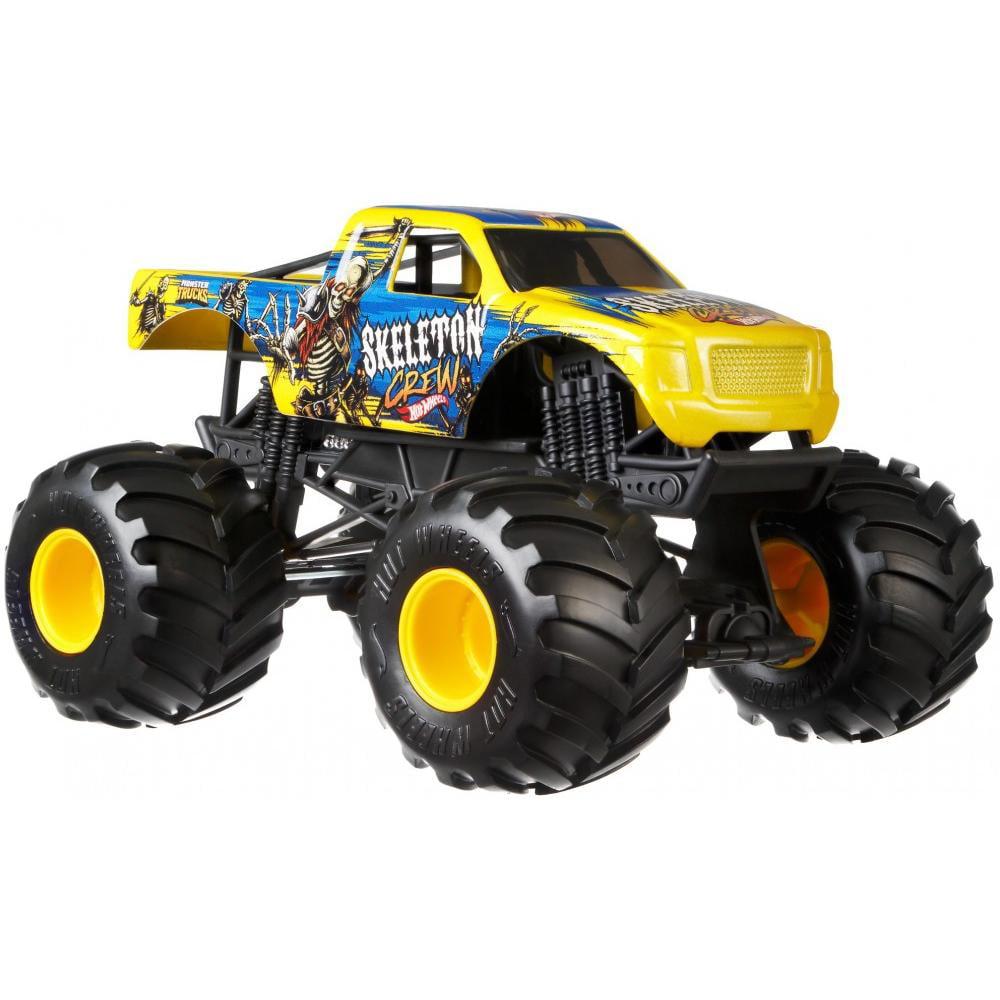 Hot Wheels Monster Trucks 1:24 Scale Skeleton Crew Vehicle