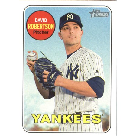 New York Yankees David Cone - 2018 Topps Heritage #307 David Robertson New York Yankees Baseball Card