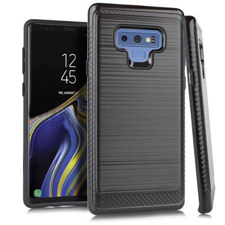 best loved b59e6 55f2f Kaleidio Case For Samsung Galaxy Note 9 [Vector Armor] Slim Fit Hybrid  [Shockproof] Lightweight TPU 2-Piece Carbon Fiber Accent Cover w/ Overbrawn  ...