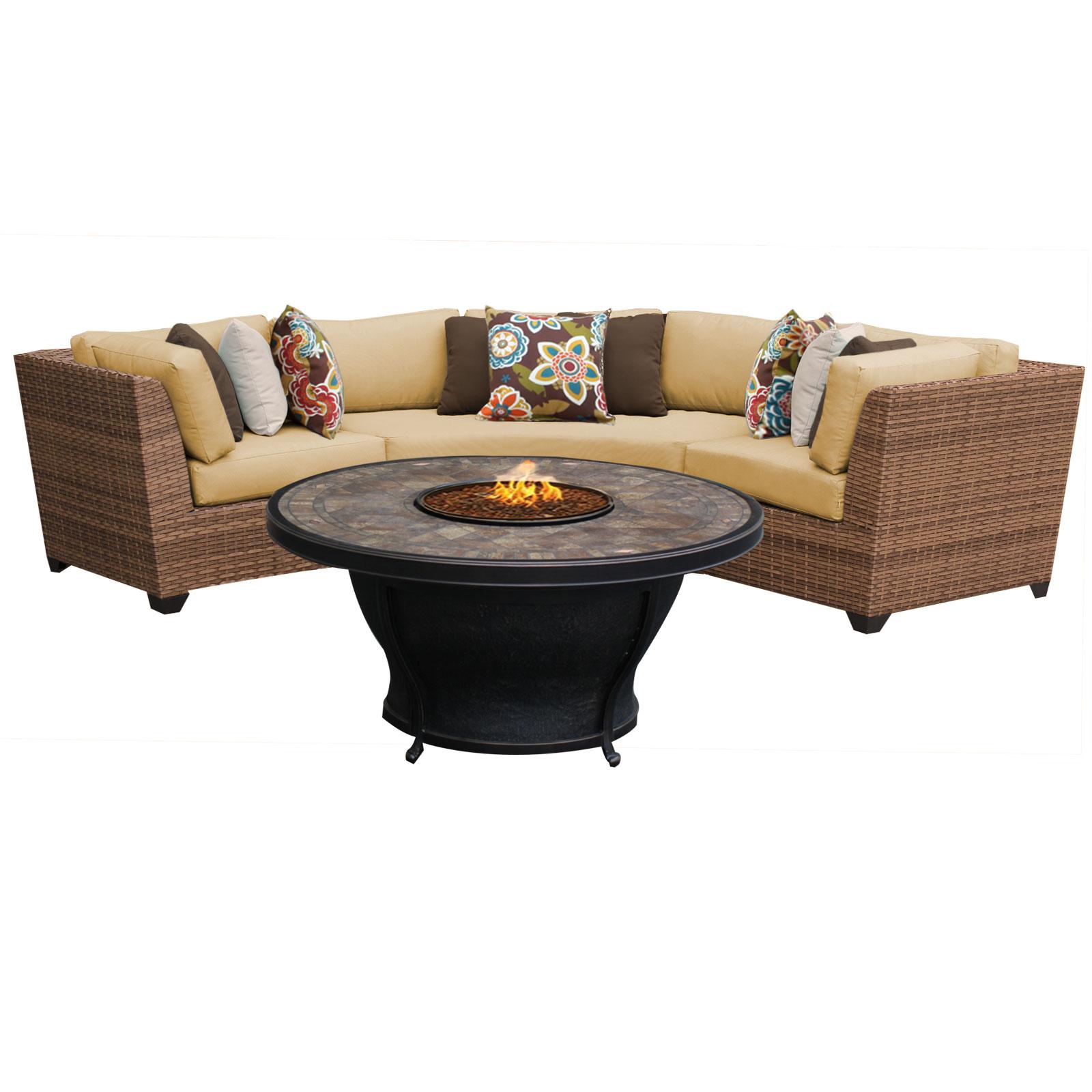 Tuscan 4 Piece Outdoor Wicker Patio Furniture Set 04e