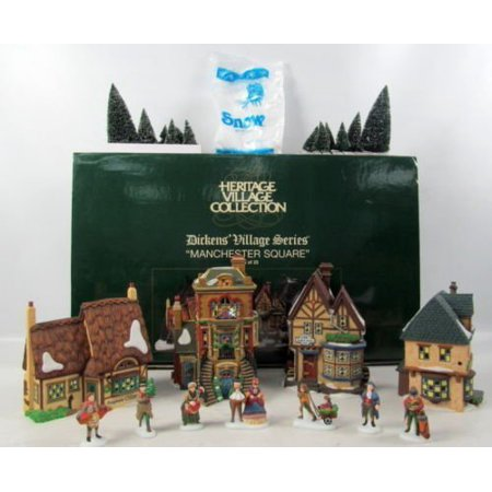 Department 56 Manchester Square Set of 25 - 56.58301 Dickens Village Collection ()