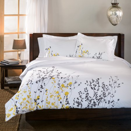 - Superior Reed Premium Cotton Embroidered 3-Piece Duvet Cover Set
