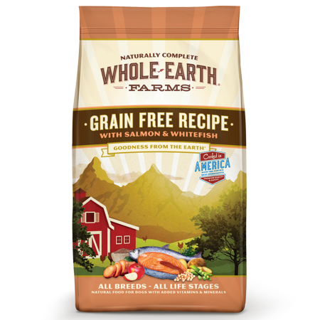 Whole Earth Farms Grain-Free Salmon & Whitefish Recipe Dry Dog Food, 25