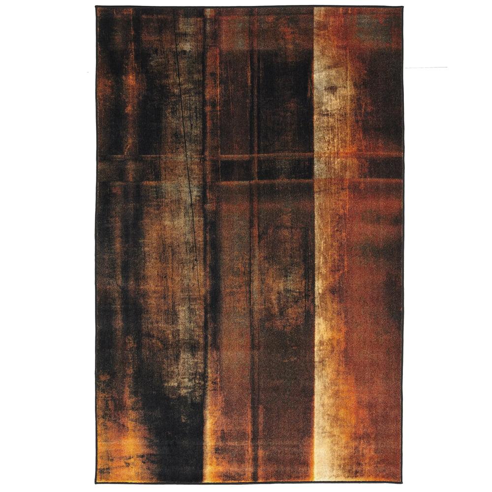 Mohawk Prismatic Area Rugs - Z0385 A426 Contemporary Peru Lines Wood Grain Striped Burned Rug