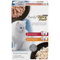 Fancy Feast Natural Wet Cat Food Variety Pack; Purely Natural Collection - (24) 2 oz. Trays