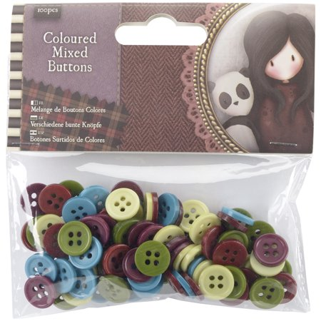 Santoro Gorjuss Tweed Mixed Buttons 100/Pkg-