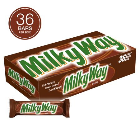 Milky Way Milk Chocolate, Singles Size Candy Bars, 1.84 Ounce, 36 Count