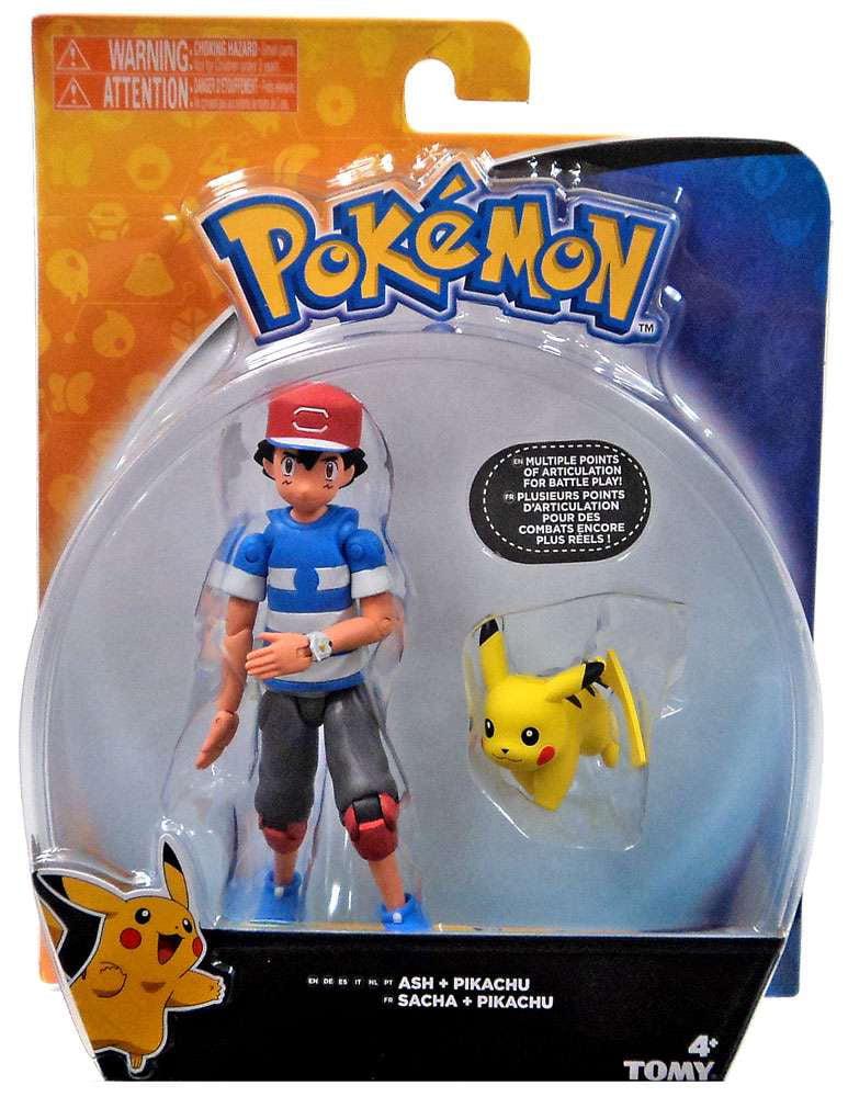 Pokemon Ash & Pikachu Action Figure [Striped Shirt] by