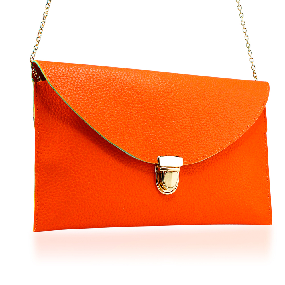 Fashion Women Handbag Shoulder Bags Envelope Clutch Crossbody Satchel Purse Leather Lady Messenger Hobo Bag - Orange