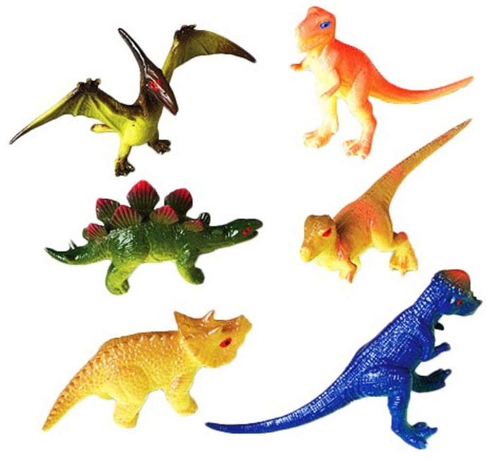 "Lot of 12 3"" Decor Plastic Toy Jurassic Dinosaur Figures Set"