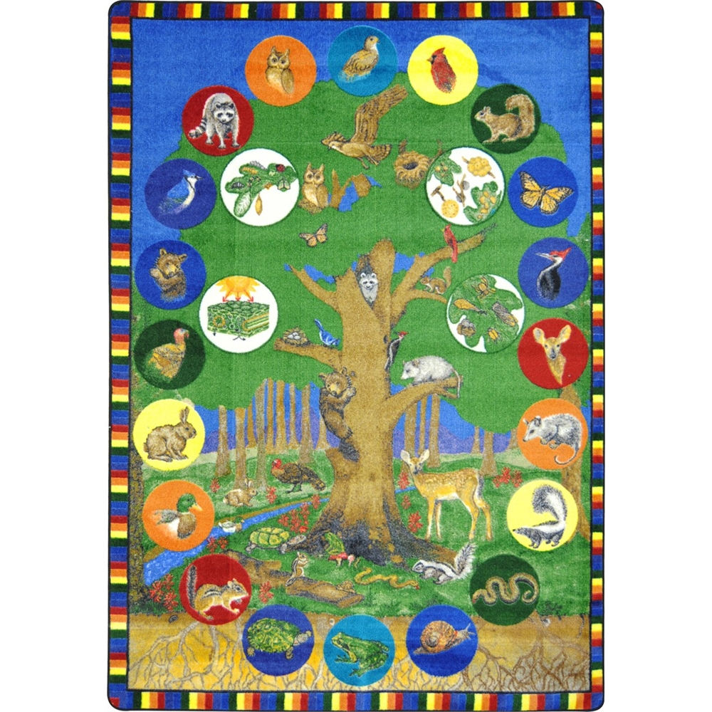 "Kid Essentials Geography & Environment Tree of Life, 7'8"" x 10'9\ by Joy Carpet"