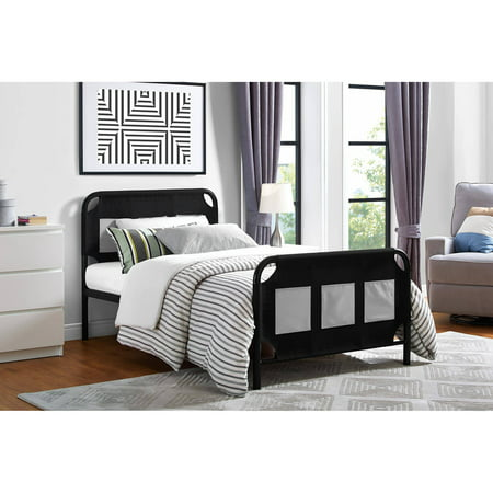 Mainstays Fairview Bed With Storage  Twin  Black Metal