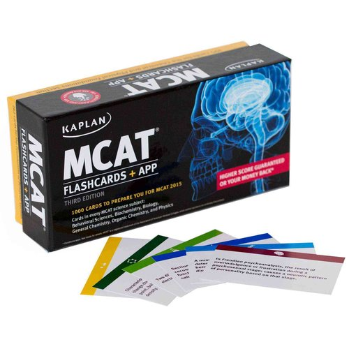 Kaplan MCAT Flashcards: Cards in every MCAT science subject: Behavioral Sciences, Biochemistry, Biology, General Chemistry, Organic Chemistry, and Physics