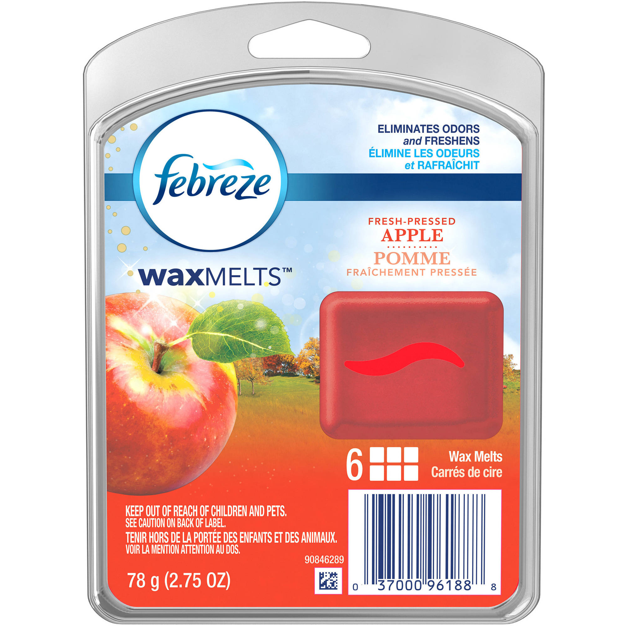 Febreze Wax Melts Fresh-Pressed Apple Air Freshener, 6 count, 2.75 oz