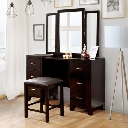 Furniture of America Elrich Contemporary Espresso 3-Piece Vanity Set by FOA