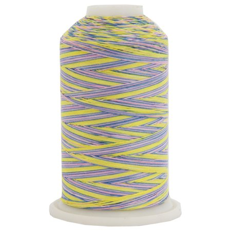 Threadart Variegated Cotton Thread 600M - Color 2636 - Wildflowers - 40/3wt - 22 Colors Available Variegated Cotton Quilting Thread