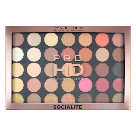 Makeup Revolution Pro HD Amplified 35 Palette, Socialite, 30g