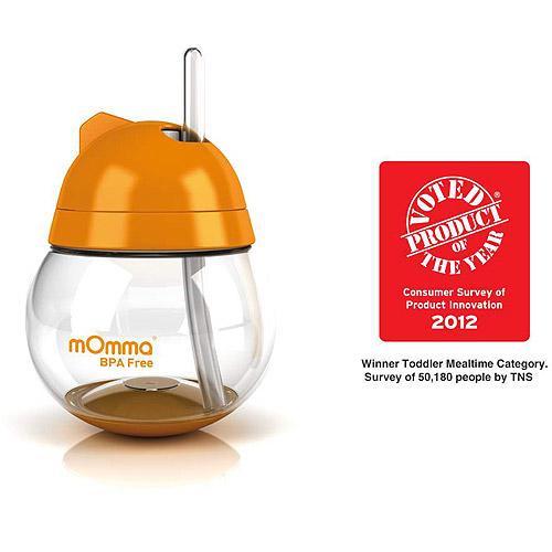 Lansinoh - mOmma Straw Cup, BPA-Free, Orange