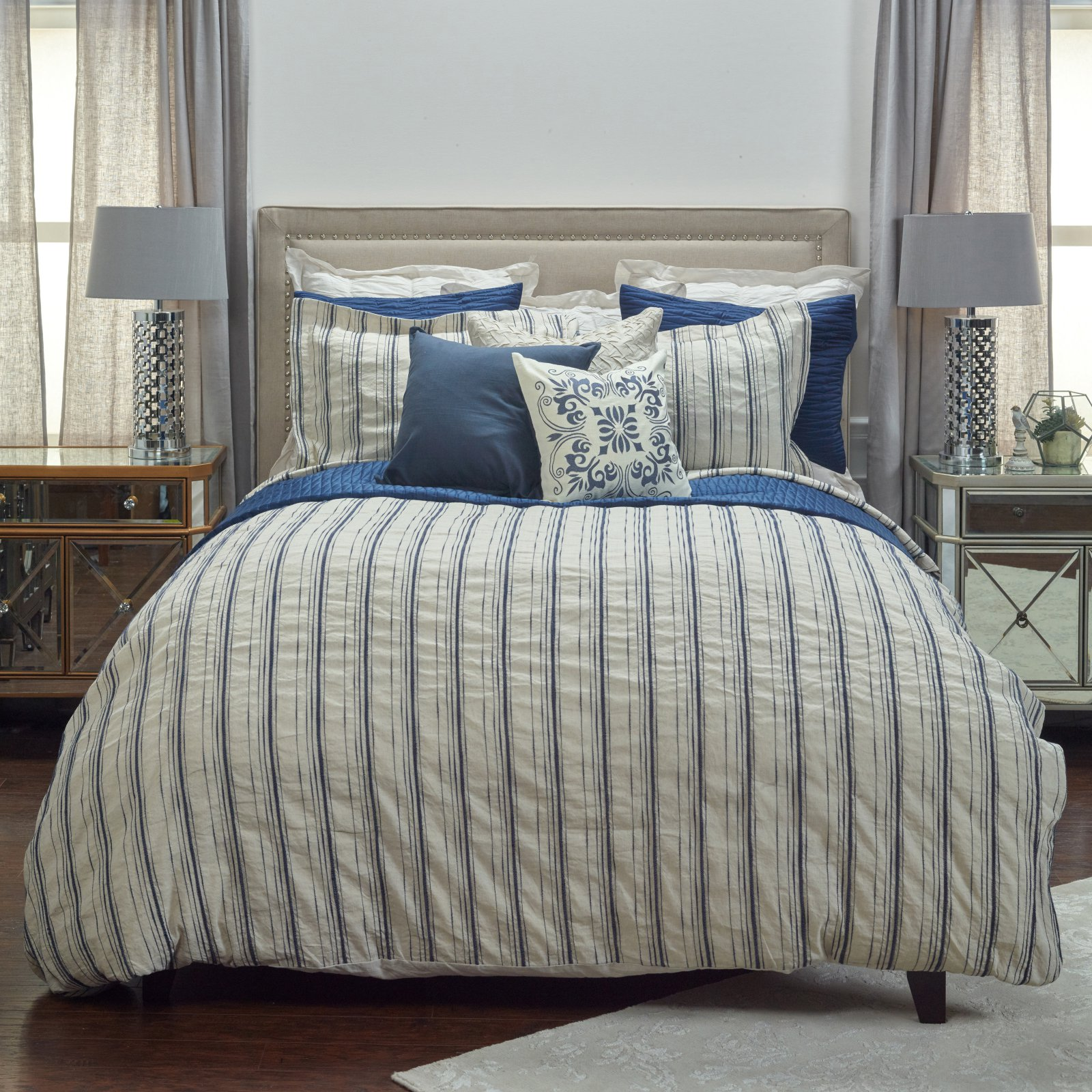 Rizzy Home BT4052 Queen Linen Duvet